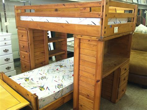 wooden bunk beds desk invest space