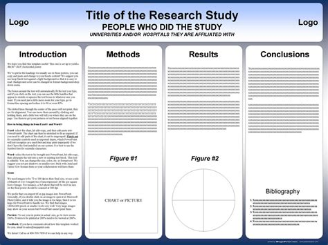 poster template free powerpoint scientific research poster templates for printing