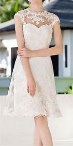 plus size knee length lace wedding dresses discount With plus size knee length wedding dresses