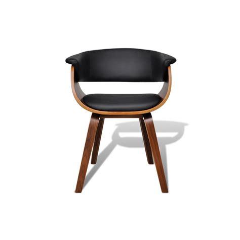 chaises cuir ensemble de 6 chaises en bois et dossier en simili cuir