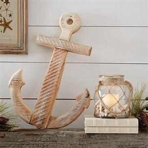 Large wooden anchor decor nautical snob