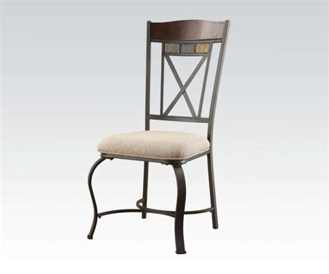 furniture black iron dining chair with back and
