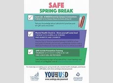 Safe Spring Break You are USD Suicide Prevention
