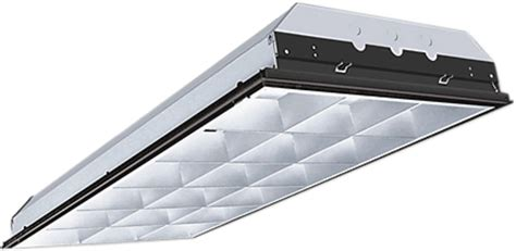 t5 28w 3 l 18 cell parabolic troffer light fixture