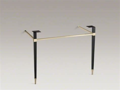 kohler kathryn console table kohler kathryn r square tapered french gold brass table