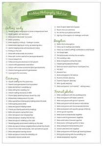 wedding photography checklist wedding photography list bridal bliss wedding inspiration