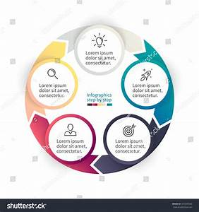 Circular Infographics Step By Step Chart Stock Vector