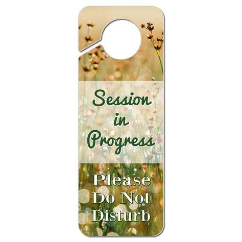 door hanger signs do not disturb plastic door knob hanger sign session in