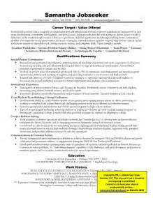 resume organized by function definition of targeted resume