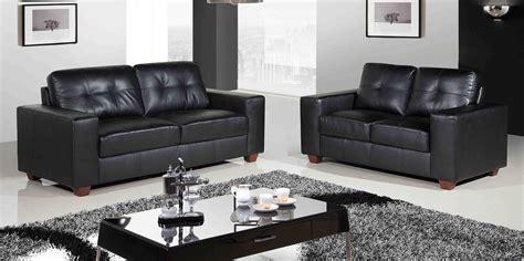 Emejing Black Leather Sofa 2 Seater Ideas   Liltigertoo