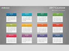 Calendrier 2017 Coloré pour PowerPoint et Keynote
