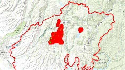 cal fire releases map  structures affected  camp fire
