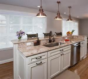 kitchen island with sink and dishwasher and seating two tier island new kitchen ideas islands