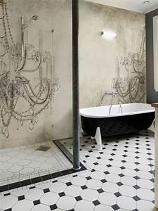 Wasserfeste Tapete Fürs Bad : wall dec bathroom wallpaper interiorator ~ Markanthonyermac.com Haus und Dekorationen