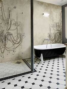 Wall Art Tapeten : wall dec bathroom wallpaper interiorator ~ Markanthonyermac.com Haus und Dekorationen