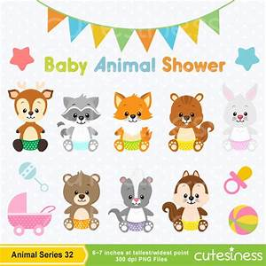 Baby Animal Clipart , Baby Woodland Animals Clipart, Baby ...