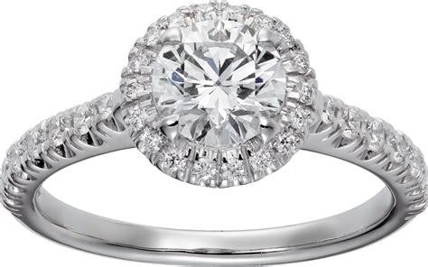 crn4246000 cartier destin 233 e solitaire platinum diamonds cartier