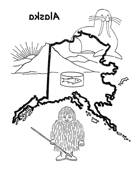 Flag Of Alaska Coloring Page Pretty Design Coloring Pages