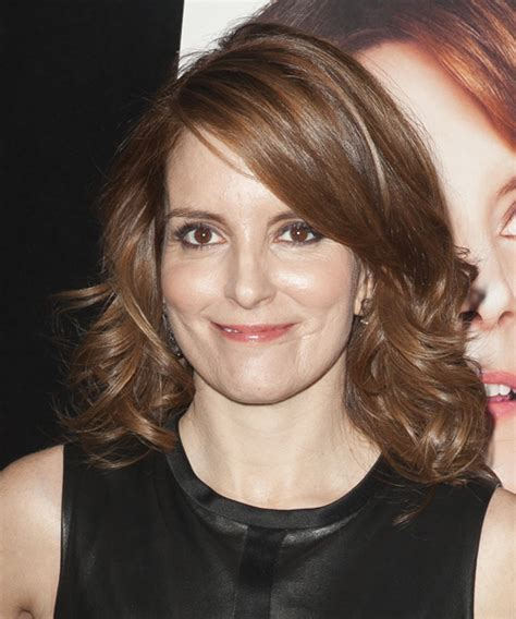 tina fey formal medium wavy hairstyle chocolate brunette