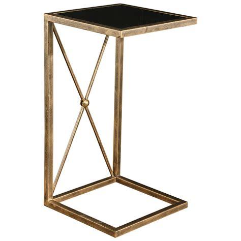 black glass end table lexington modern classic antique gold black glass side