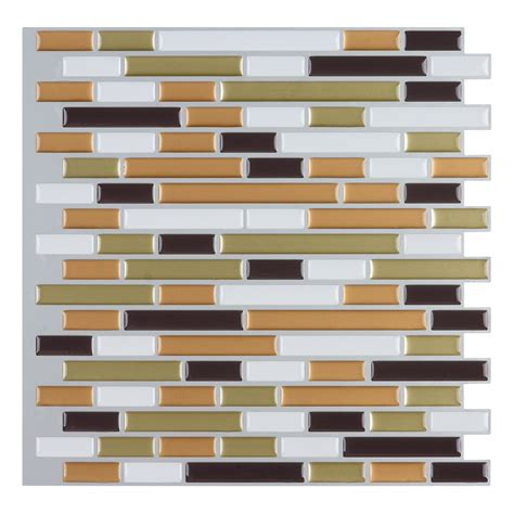 kitchen backsplash stick on tiles peel and stick wall tile kitchen backsplashes 12 quot x12 quot set