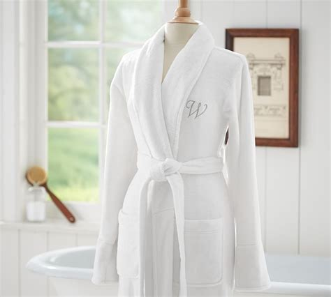 pottery barn robe pottery barn white luxe cozy robe size large l