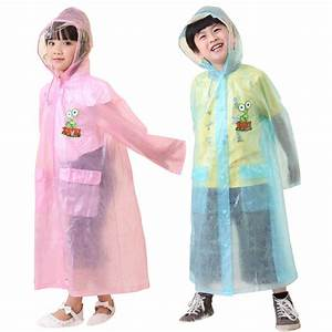 2015 New Transparent Kids Impermeable Raincoat For ...