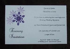 wedding invitations evening invitation personalised With wedding invitations for the evening