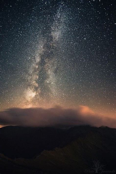 Milky Way Visible Above The Tatry Mountains Poland