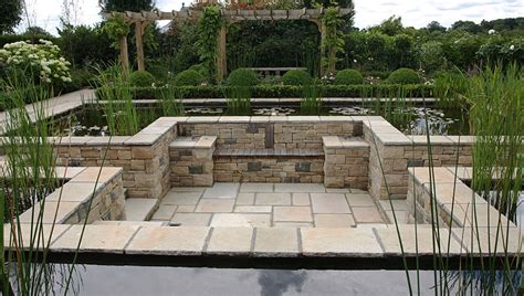 house plans with a courtyard formal pond pangbourne berkshire landscape garden