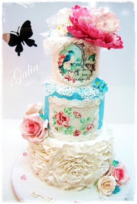 shabby chic cake wedding cake style shabby chic painted cakes and cupcakes pint
