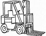 Truck Lifted Fork Drawing Lift Trucks Getdrawings Embroidery sketch template
