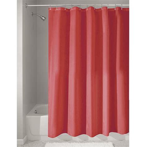 interdesign red fabric shower curtain    cm
