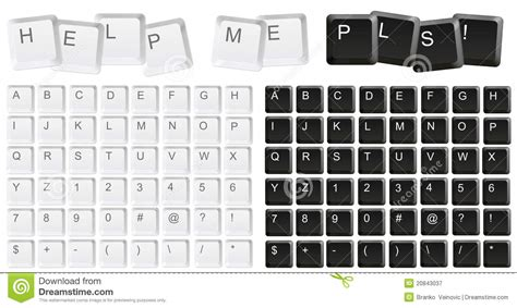 letters on keyboard keyboard letters stock illustration image of 31707