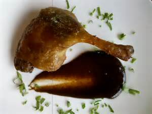 Black Duck Confit with Cherry Sauce