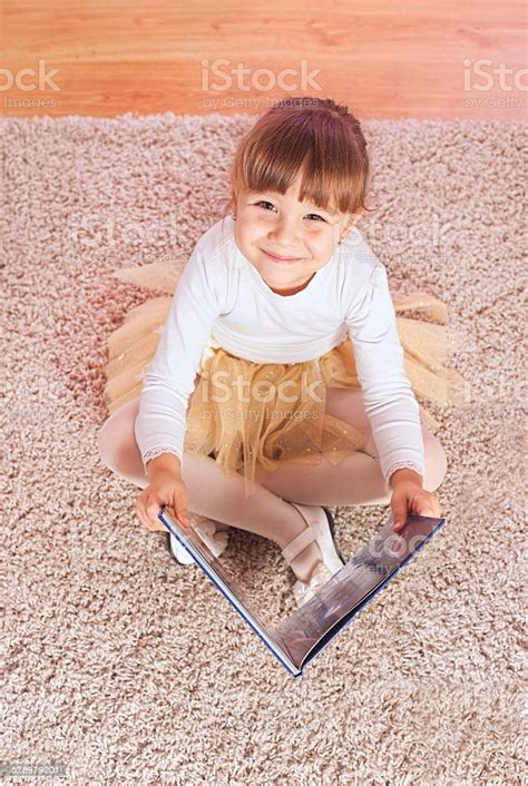 Little Girl Reading A Book Stock Photo - Download Image ...