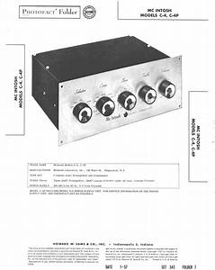 Mcintosh C4  U0026 C4p   Original Service Manual