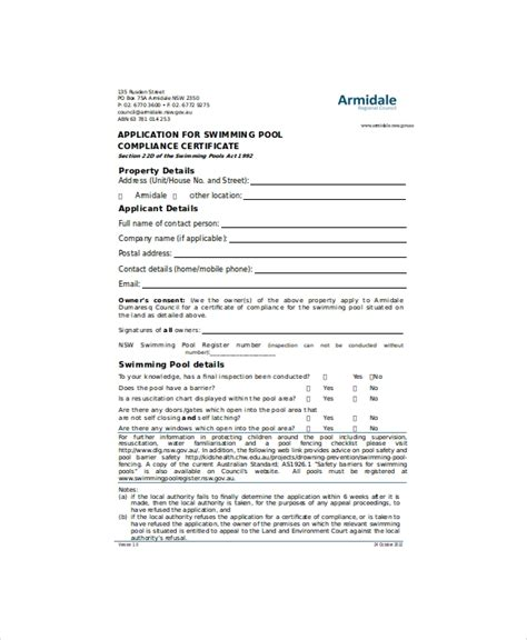 swimming certificate template   word excel