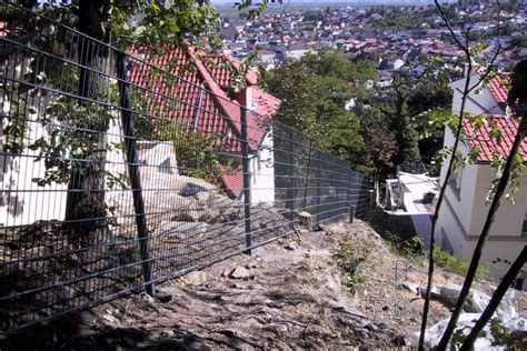 Zaun Am Hang Setzen by Zaun Am Hang Draht Hemmer