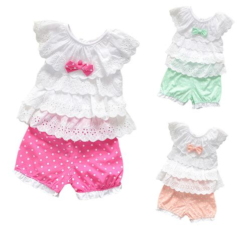 Newborn Baby Girl Clothes 3 6-9 12-18 24 Months Summer Outfit 2 pcs Set | eBay