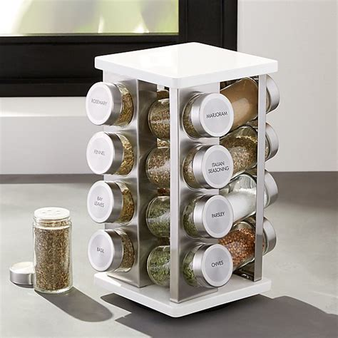 Spice Rack And Bottles by 16 Bottle White Spice Rack Crate And Barrel