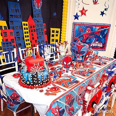 Spider Man Party Table Idea  Table Decorating Ideas