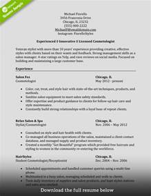 Entry Level Hair Stylist Resume Exles by How To Write A Cosmetology Resume Exles Included