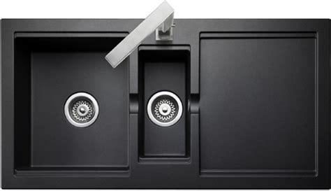 bowl granite onyx finish kitchen sink reversible