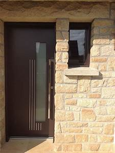 Porte Entrée Aluminium Rénovation : pose de porte d 39 entr e aluminium contemporaine et design ~ Premium-room.com Idées de Décoration