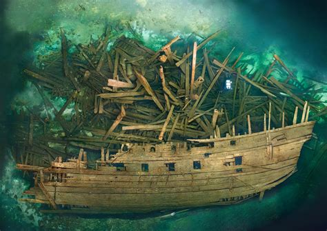 cursed warship revealed  treasure onboard