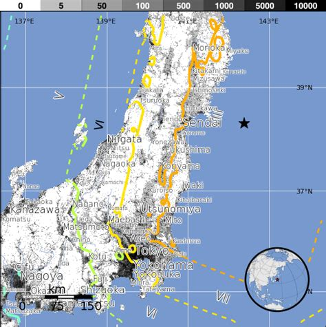 planet bureau séisme du 11 mars 2011 au large de sendai île de honshu