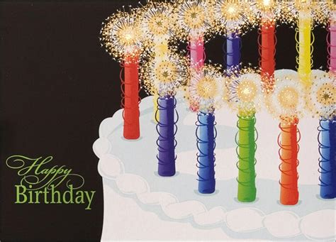 sparkling candles birthday card birthday cards