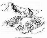 Machu Imagui Picchu Pichu Colorear Pintar Imagen sketch template