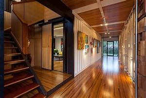 Entrance Hall Stairs Shipping Container Home In Brisbane